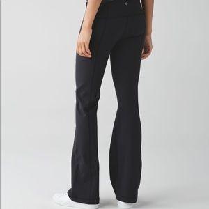 Lululemon Black Groove flare leg yoga pants